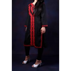 Black Aari Embroidered Kurti